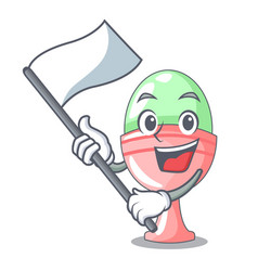 with flag in egg cup isolated on character vector image