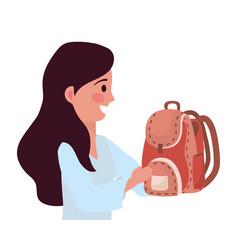 Woman teacher school design vector