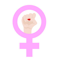 womans resist symbol isolated on white background vector image