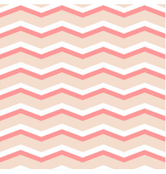 zig zag chevron pink and white tile pattern vector image