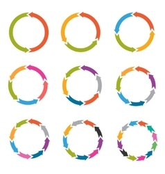 Circle arrows with options parts steps vector