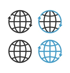 Earth Globe Emblem Set vector image
