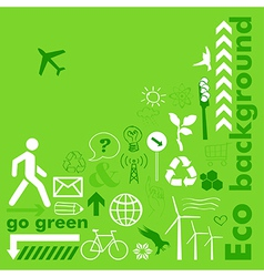Go green card vector image