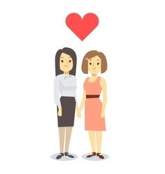 Happy gay LGBT women pair in love vector image