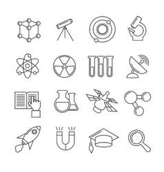 Science thin line icons set vector image vector image
