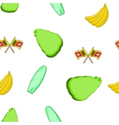 Sri Lanka pattern cartoon style vector image vector image