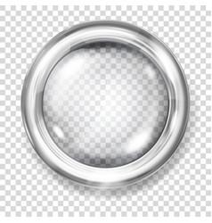 transparent glass button vector image