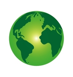 World planet map green vector image