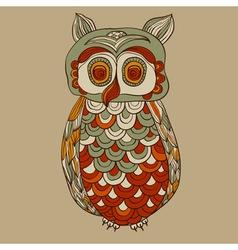 bizarre funky owl vector image vector image