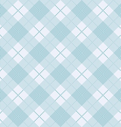 Blue seamless tartan pattern background vector image
