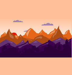 colorful mountain background sunrise time vector image vector image