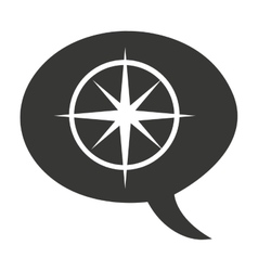 compass guide equipment isolated icon vector image