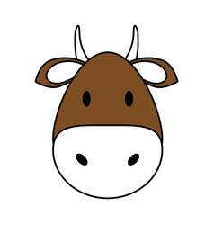cute bull design vector image vector image