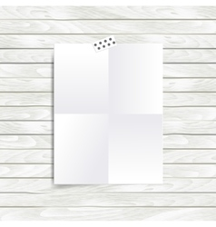 Mock up with folded in four blank vector image vector image