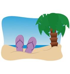 on beach vector image