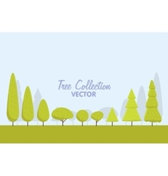 Set of abstract stylized trees Natural vector image