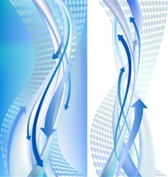 2 abstract backgrounds with arrows vector image vector image