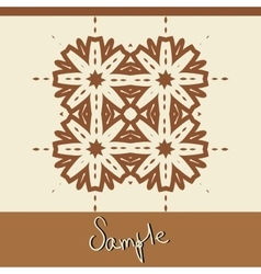 Brown ornamental Print in oriental style handmade vector image