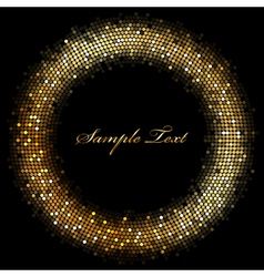 frame with gold sparkles vector image