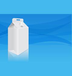 milk cardboard packaging on blue background vector image