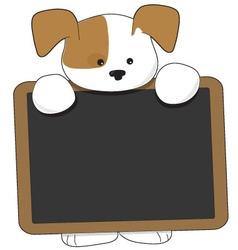 puppy blackboard vector image vector image