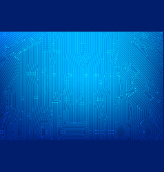 Abstract dark blue background with print circuit vector