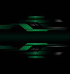 Abstract dark green grey metallic geometric cyber vector