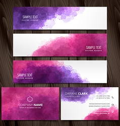 abstract ink style business stationery design vector image