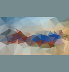 abstract irregular polygonal background beige blue vector image
