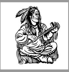 American native chief vector