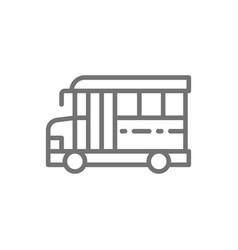 american school bus education transportation line vector image