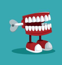 April fools day teeth practical joke vector