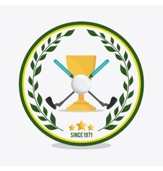 Ball and clubs icon Golf sport design vector