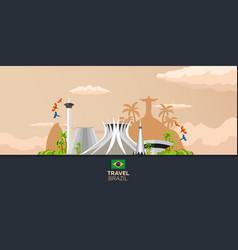 banner travel to brazil rio de janeiro poster vector image