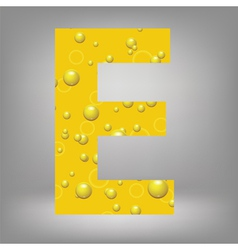 beer letter E vector image