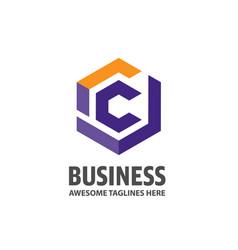 best letter c logo concept vector image