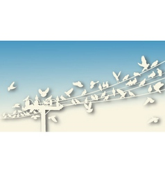 bird roost cutout vector image