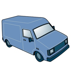 Blue van vector