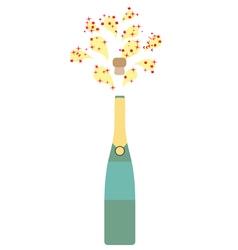 Bottle champagne vector