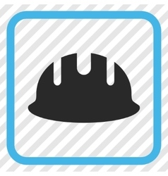 Builder Hardhat Icon In a Frame vector