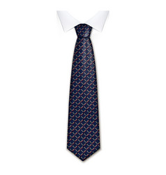 business tie icon realistic style vector image