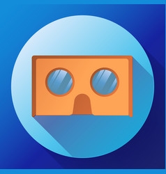 cardboard virtual reality glasses icon vector image