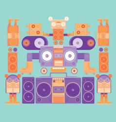 Cartoon ghetto blaster music vector