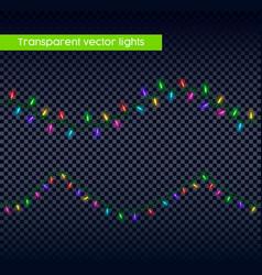 christmas light set on transparent background vector image