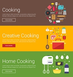 Cooking Creative Cooking Home Cooking Flat Design vector image