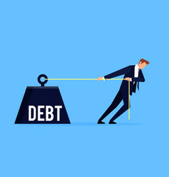 debtor business concept vector image
