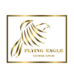 eagle logo line art eps 10 vector image