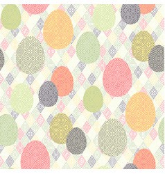 Easter boho pattern vector