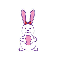 Easter bunny icon vector