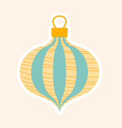 festive blue and gold christmas tree decoration vector image